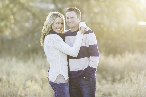 Engagement session golden hour