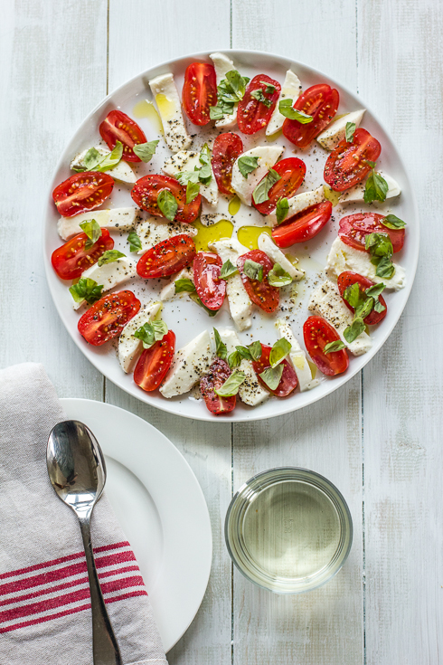 Caprese Salad. Photography © 2012 Helena McMurdo