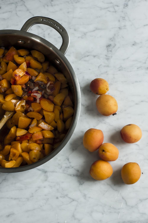 Making Apricot Sultana Chutney  © 2014 Helena McMurdo