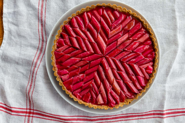 Rhubarb Marquetry Tart