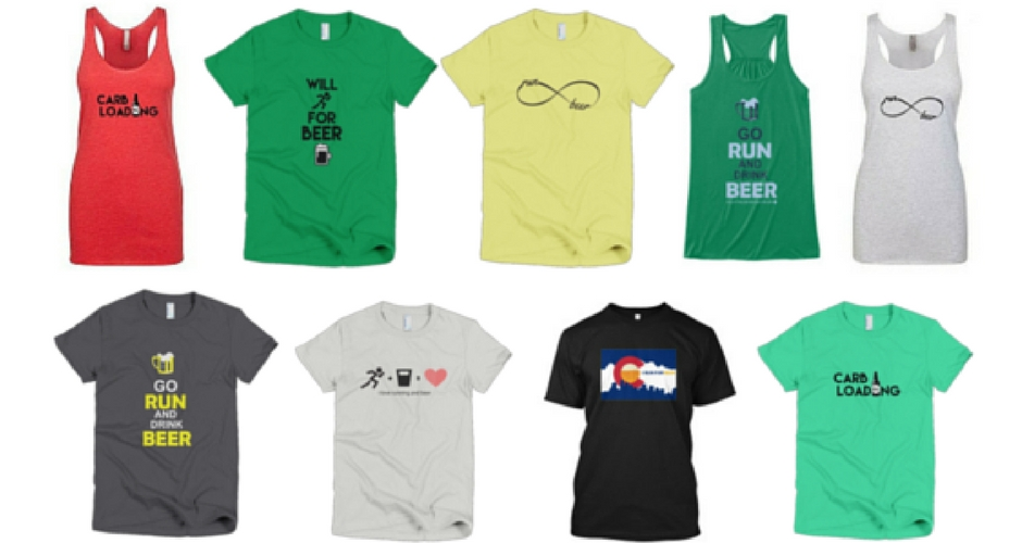 CLICK ON THE IMAGE OF THE TEES TO GO TO OUR BREW RUNNER APPAREL STORE!