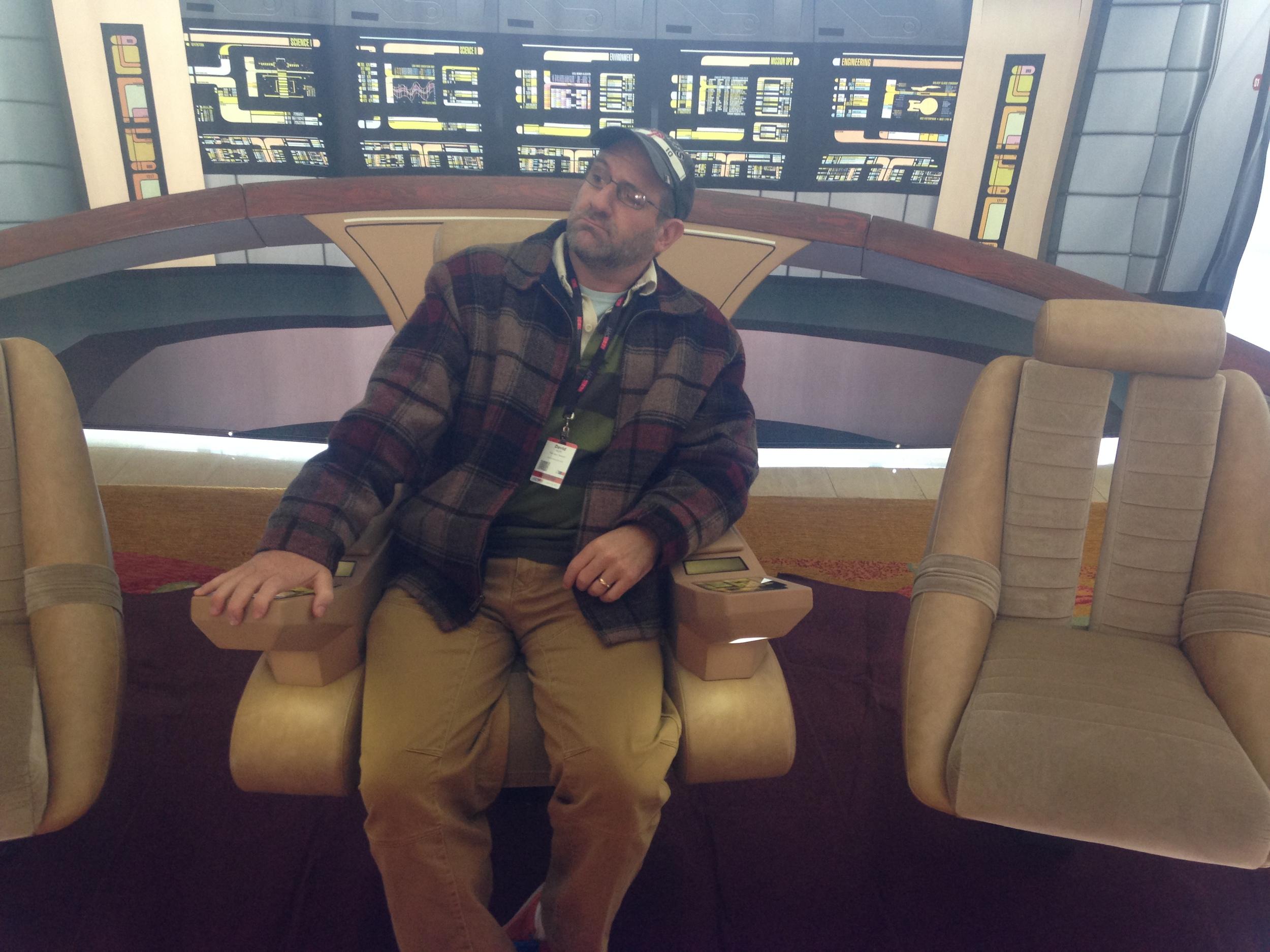 "On the bridge of the ""Enterprise"""