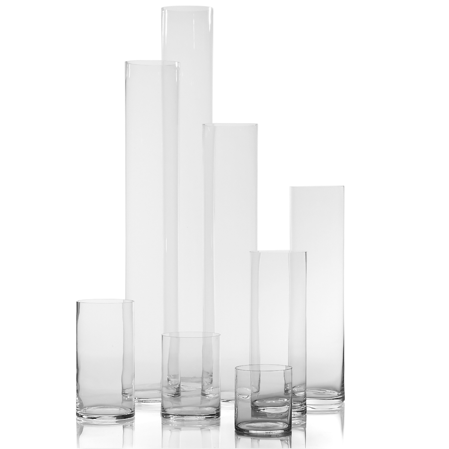 glass cylinders