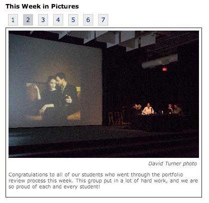 screen capture of a posting on the Hallmark Institute of Photography website. www.hallmark.edu.