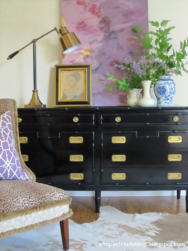 Vintage piece painted black gave it a new life.