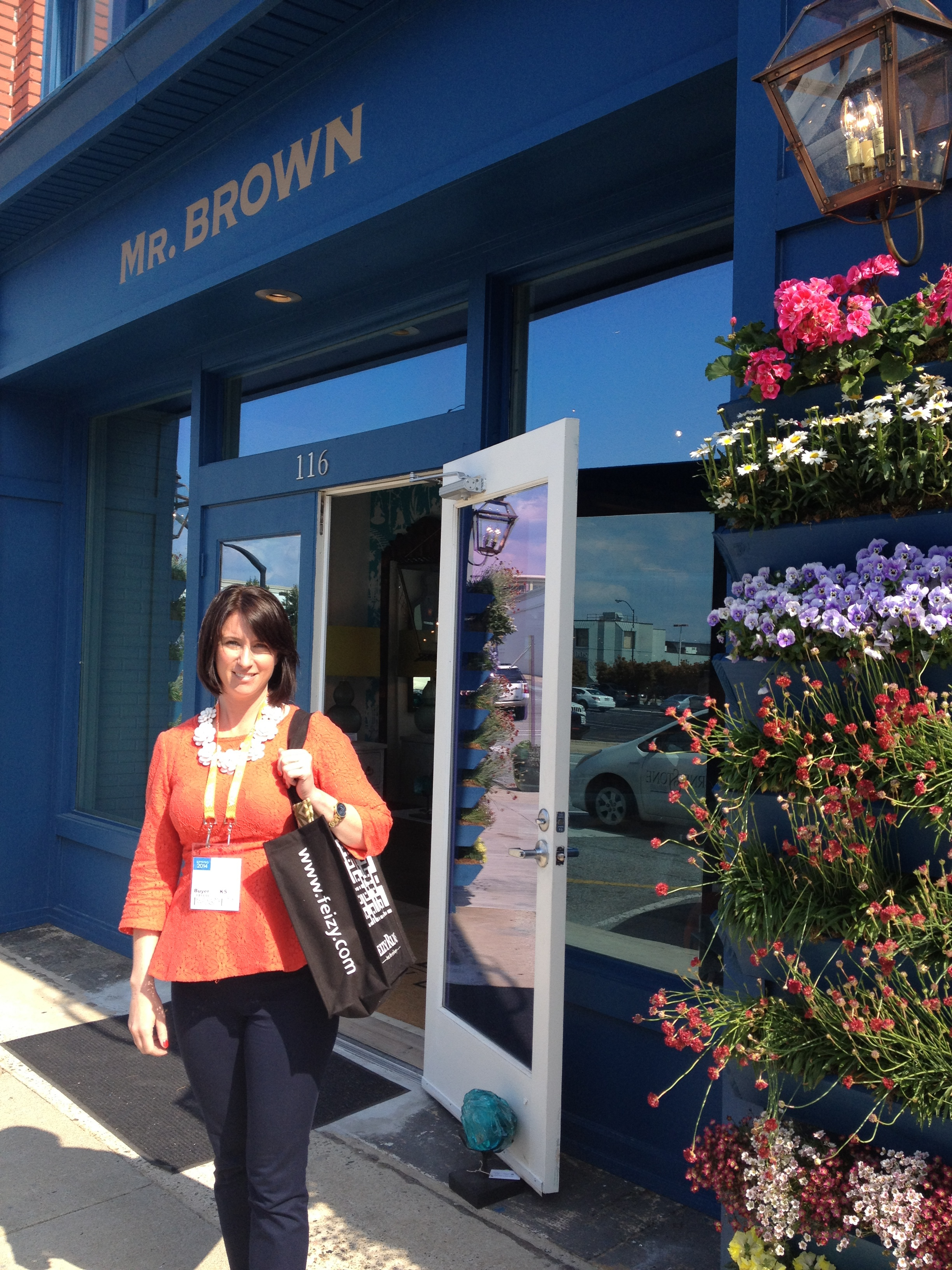 One of the last stops was the new showroom of Mr. Brown.