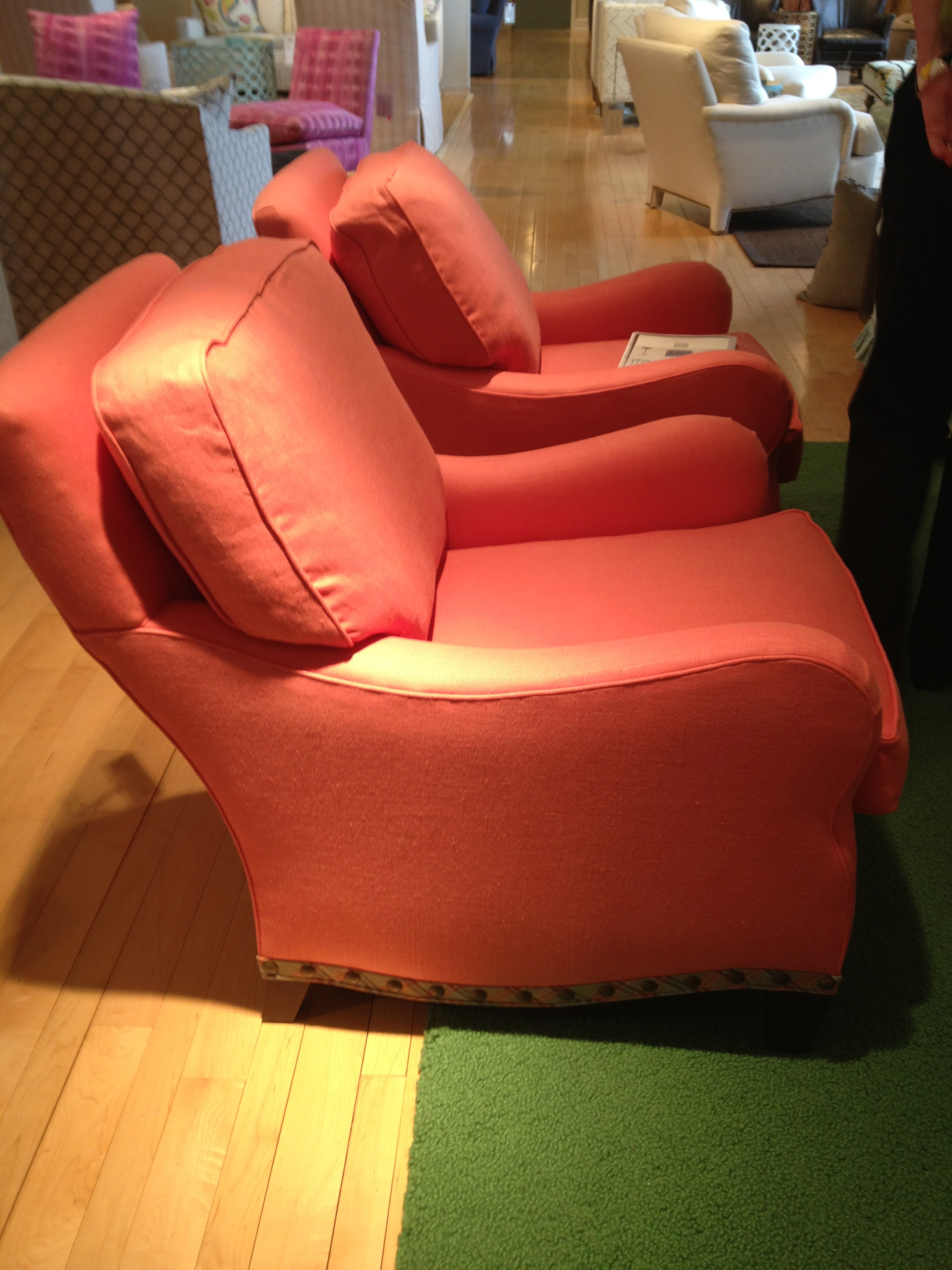 This comfortable chair would be a good basic to any room.