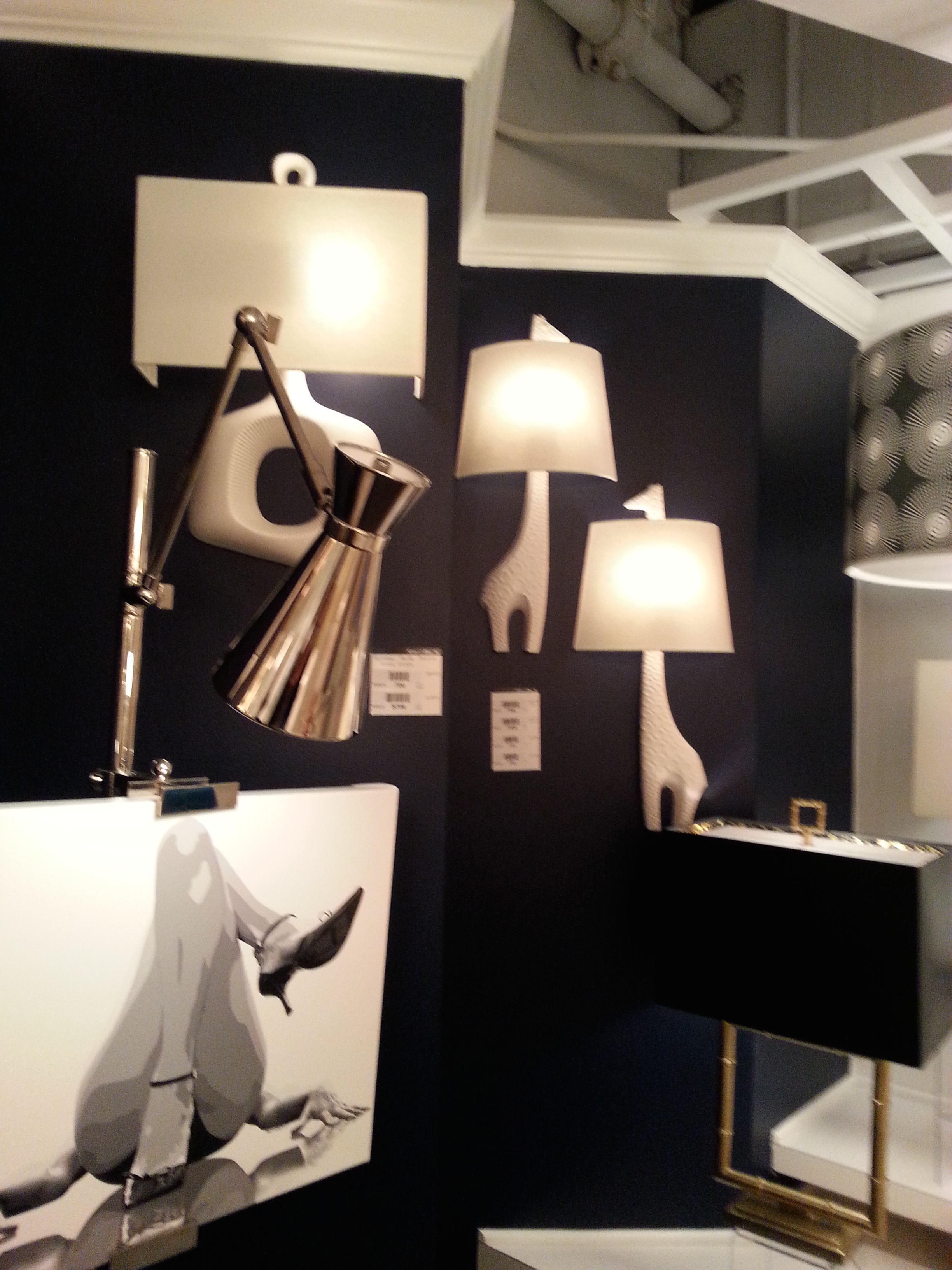 The Jonathan Adler sconces have been a long time favorite. It would be killer in a nursery or just a spot that needs a little whimsical fun.