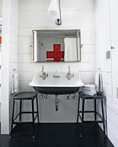 Found on remodelista.com   I have never used one of these sinks but am dying to do so. Please call me if you have a space we can design with it :)