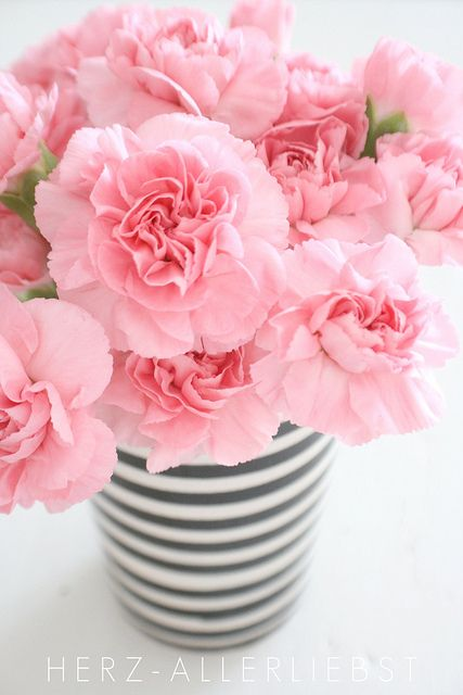 http://www.flickr.com/photos/24285065@N02/5981188298/  Carnations are a great economical way to bring in a little pop of color.