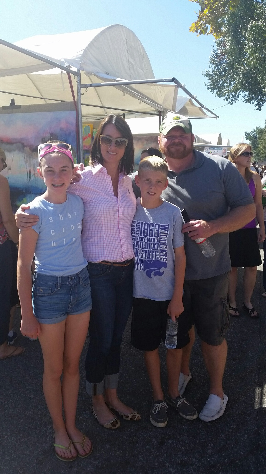 The family at the Plaza Art Fair.