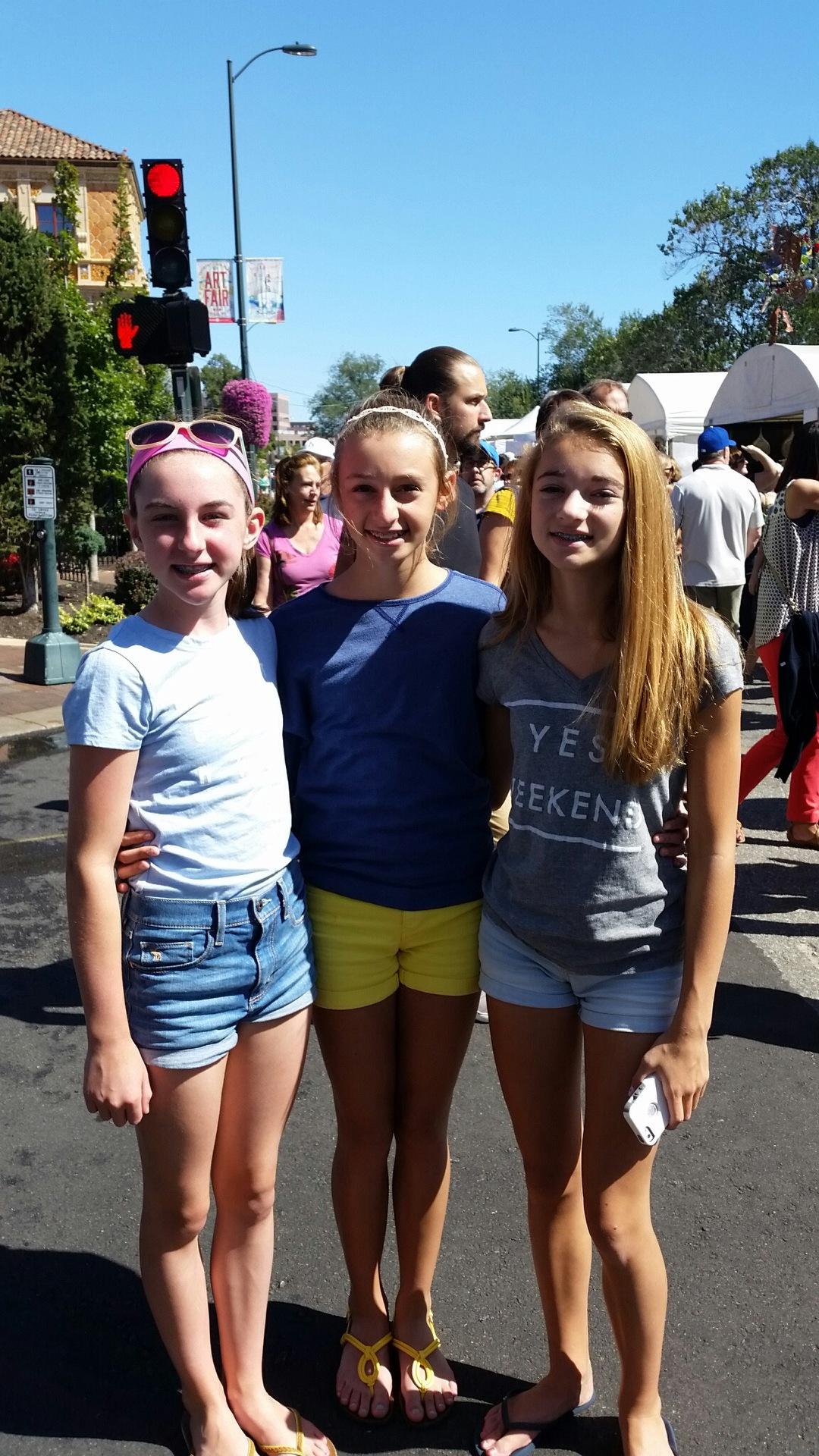 Ellie, Ellie and Katie.