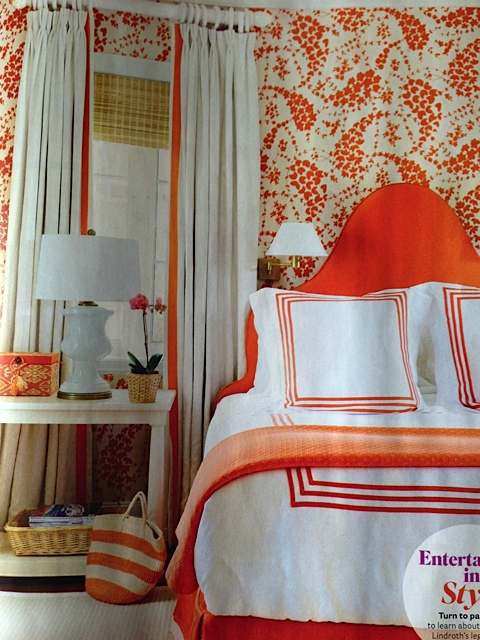 House Beautiful. Love the orange!