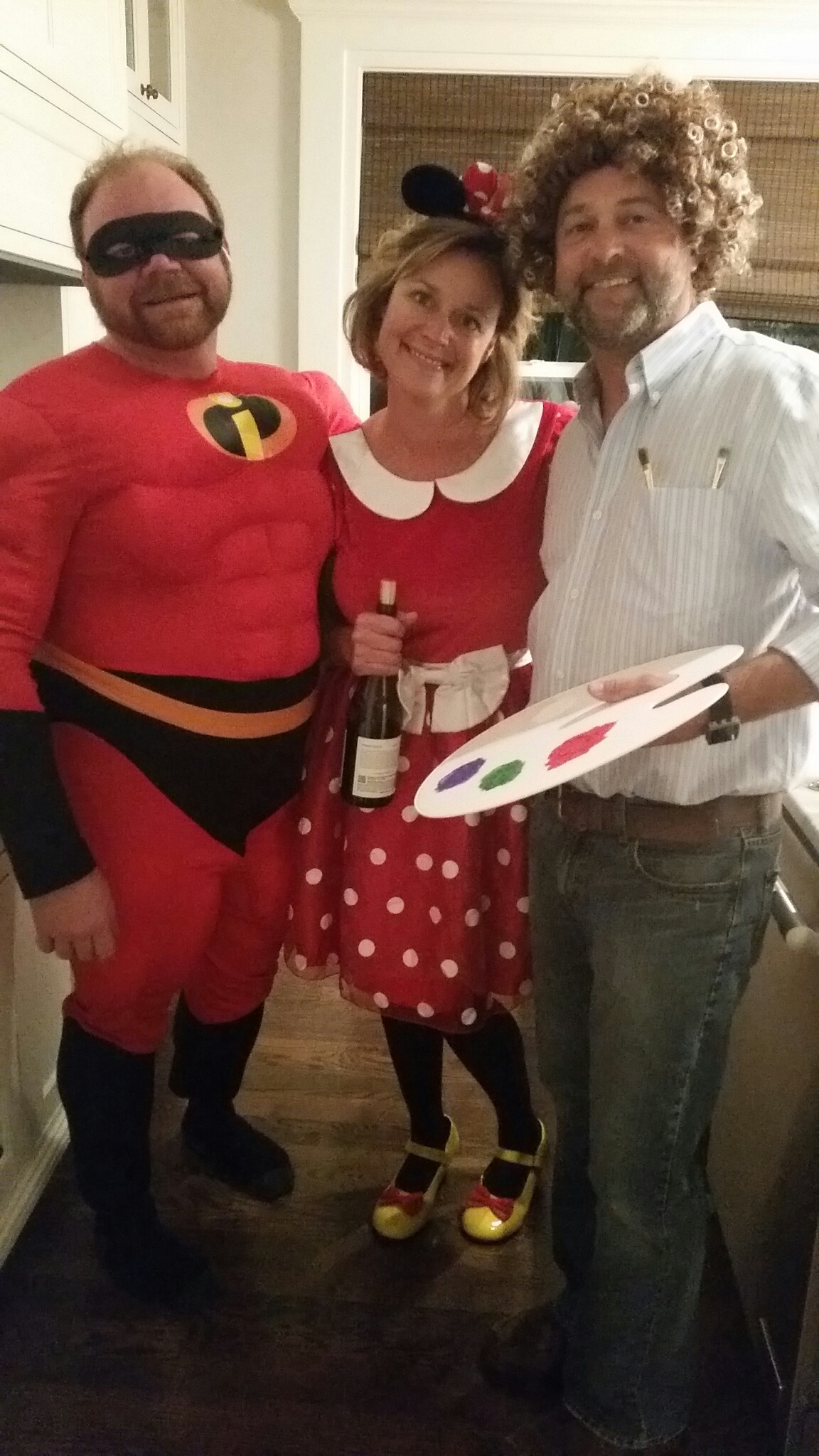 These were the runner up for best costumes. Nice work Vince, Krista and Marc. But the winner goes too….