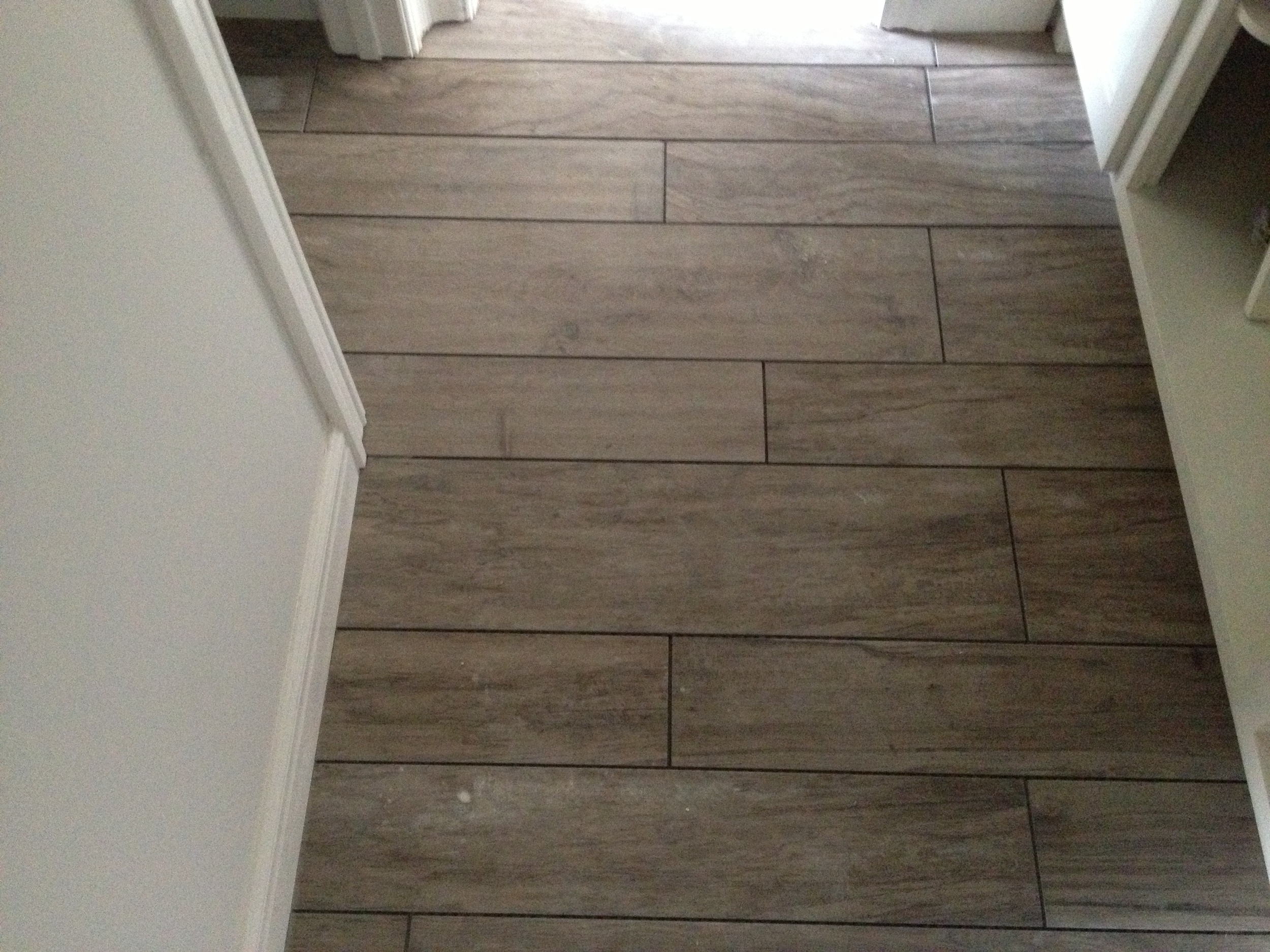 Laid, but no grout yet.