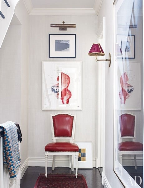 Sophisticated and modern red. http://abodelove.blogspot.com/