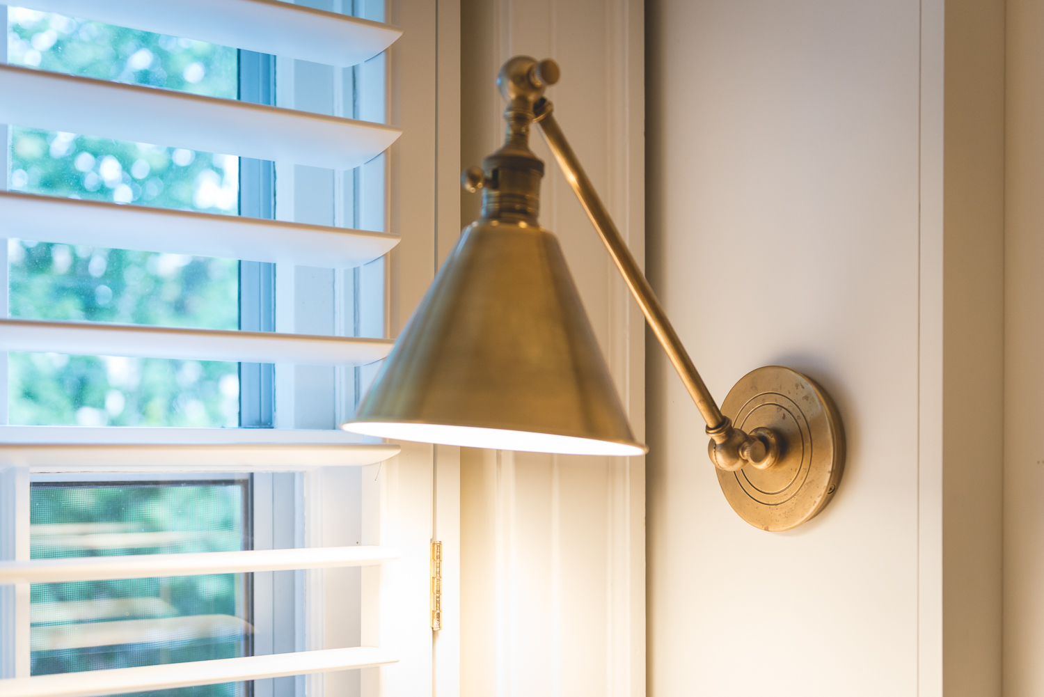 To add sconces we had to build out the sides of the bookshelves but the result was worth it for a clean contemporary lighting solution. www.saranobledesigns.com
