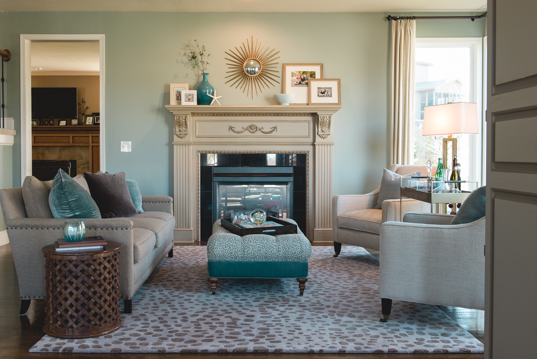 Wichman's transformed living room. www.saranobledesigns.com
