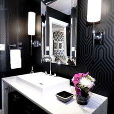 Love the black wallpaper. http://www.houzz.com/ideabooks/13008447/start=255/thumbs/dinagabreil-s-Ideas
