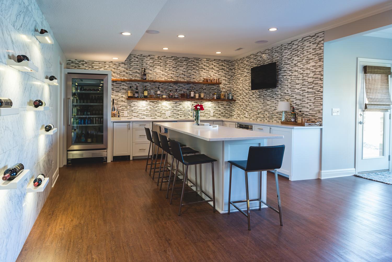 Davenport Basement Bar. www.saranobledesigns.com
