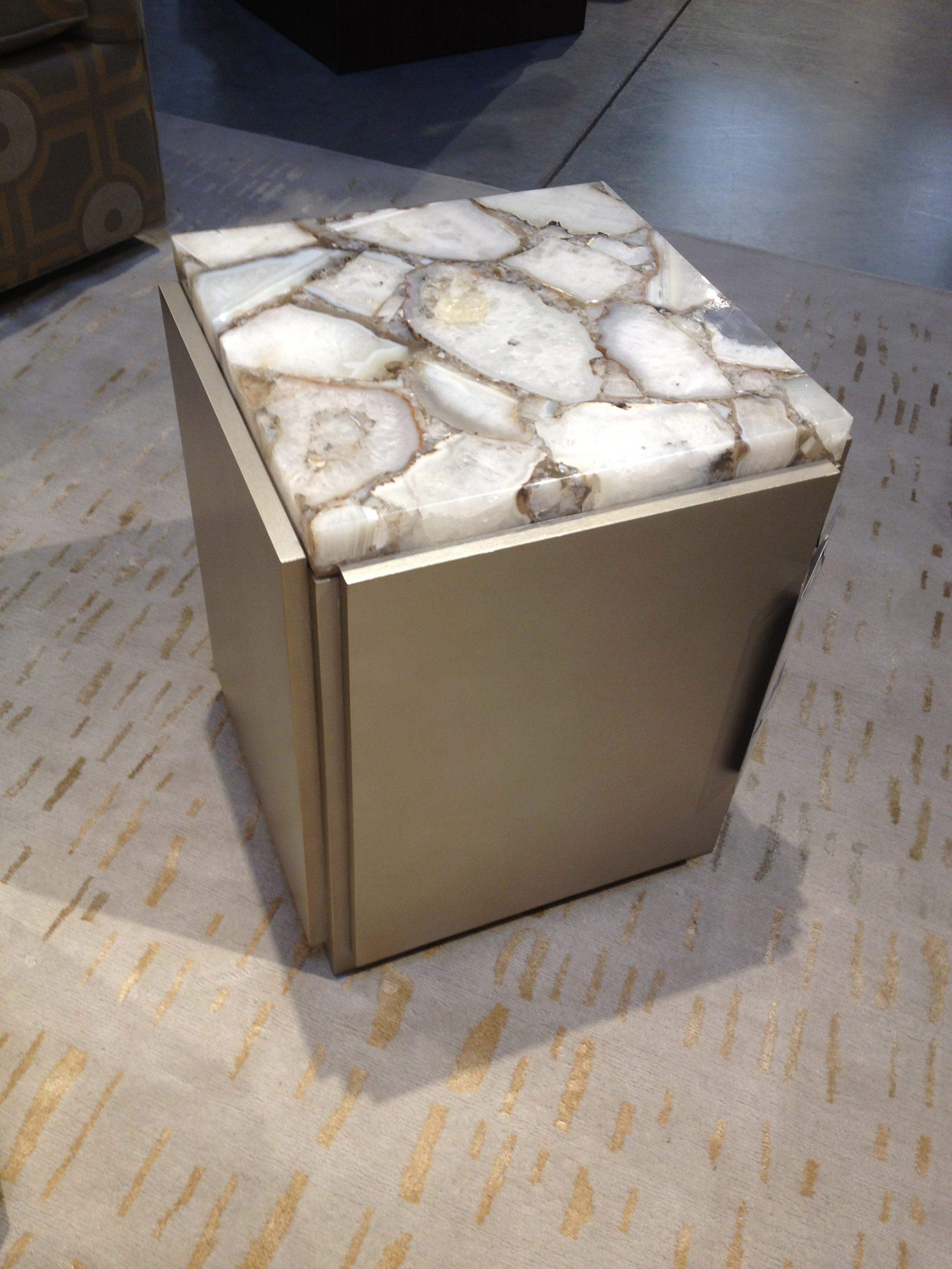 KDR also has this fantastic side table which yells interest.
