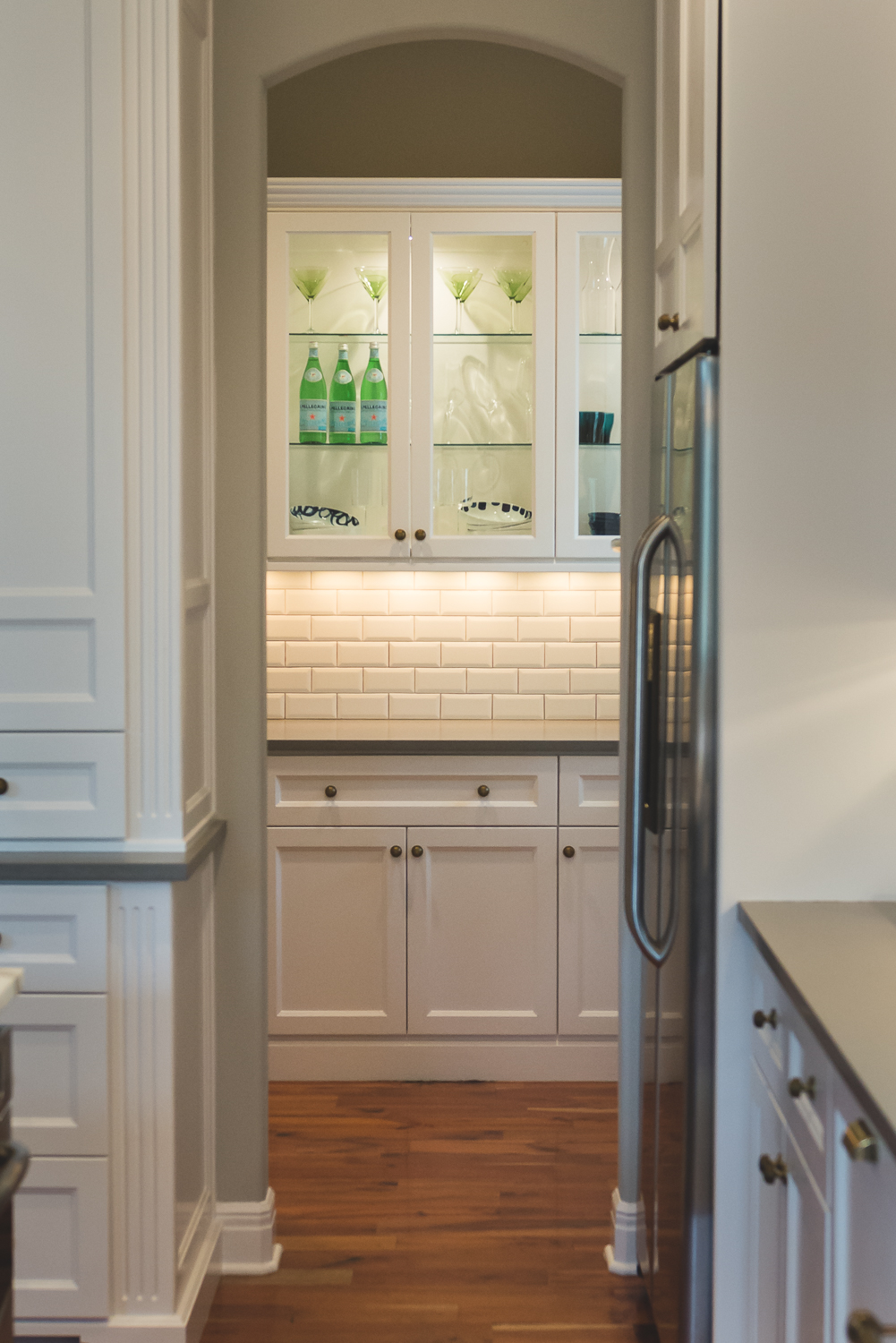 The remodel extended into the butler's pantry. www.saranobledesigns.com