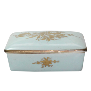 Blue Vintage Ceramic Box, $19