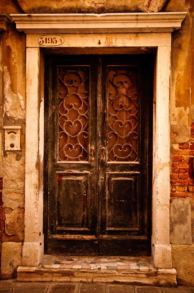 Old painted door in Venice. Photo: Sue Sikorski