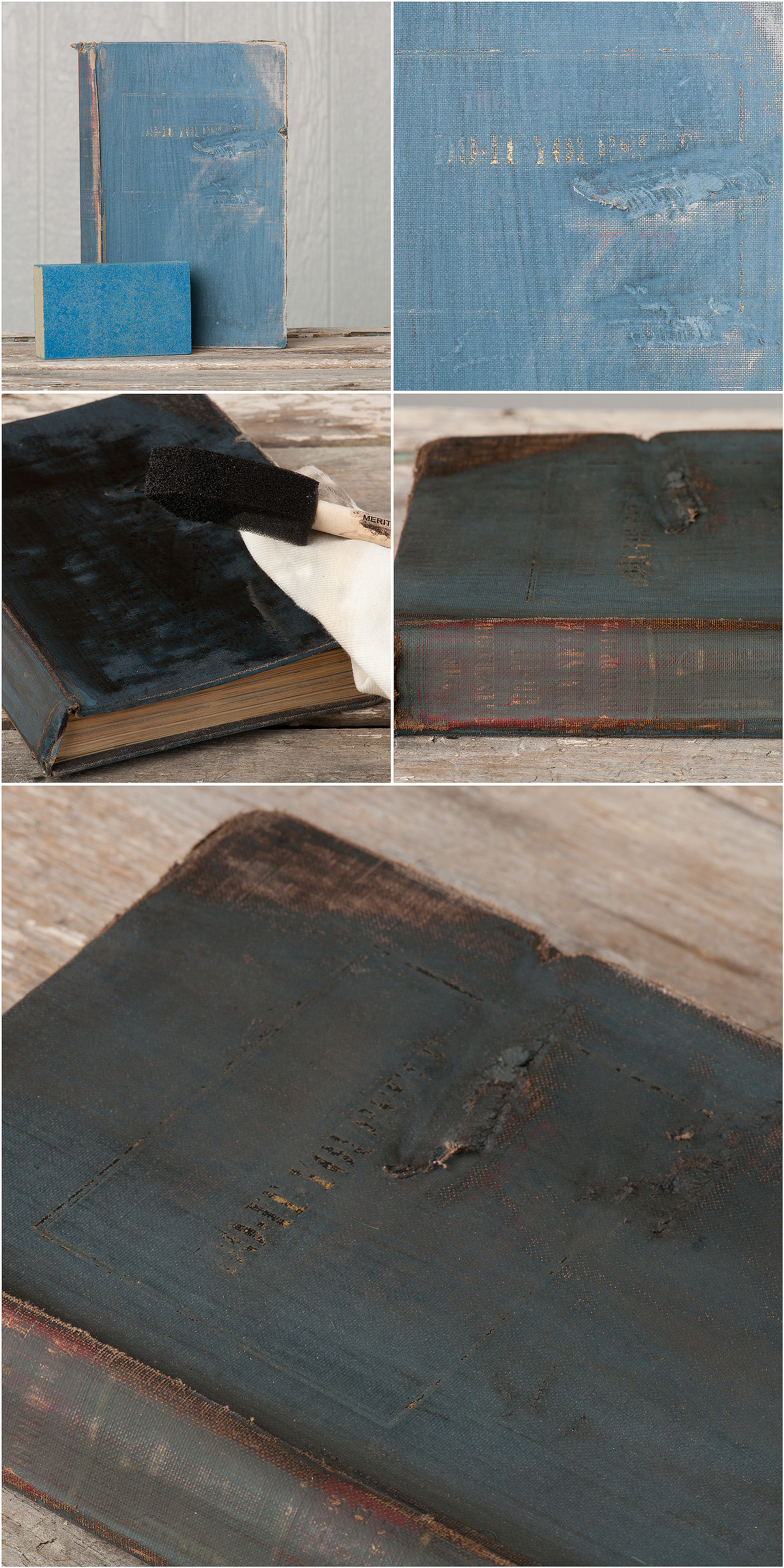 Milk paint tutorial from My Painted Door (.com) - painting on books