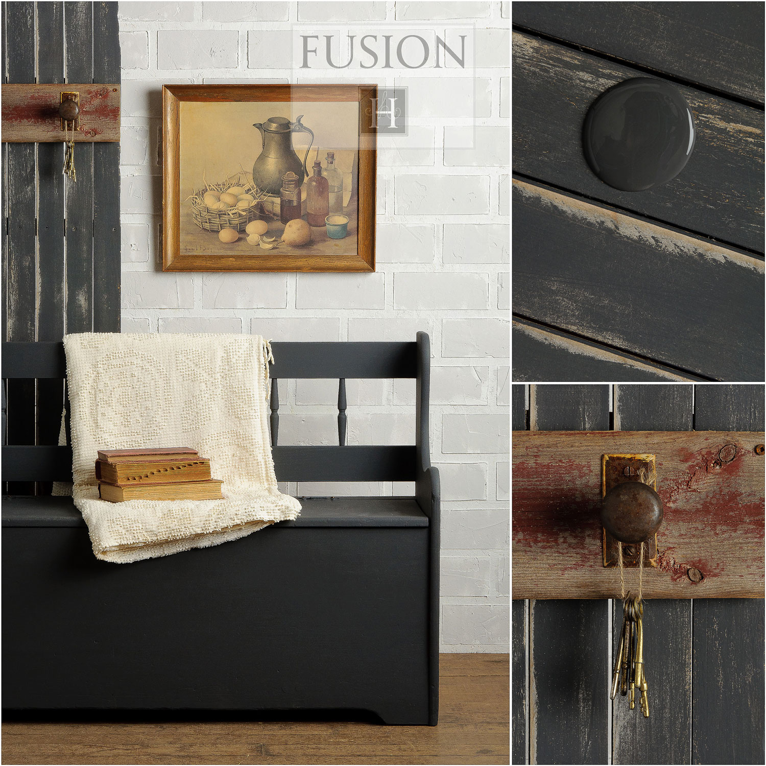 Fusion paint in ash - via My Painted Door (.com)
