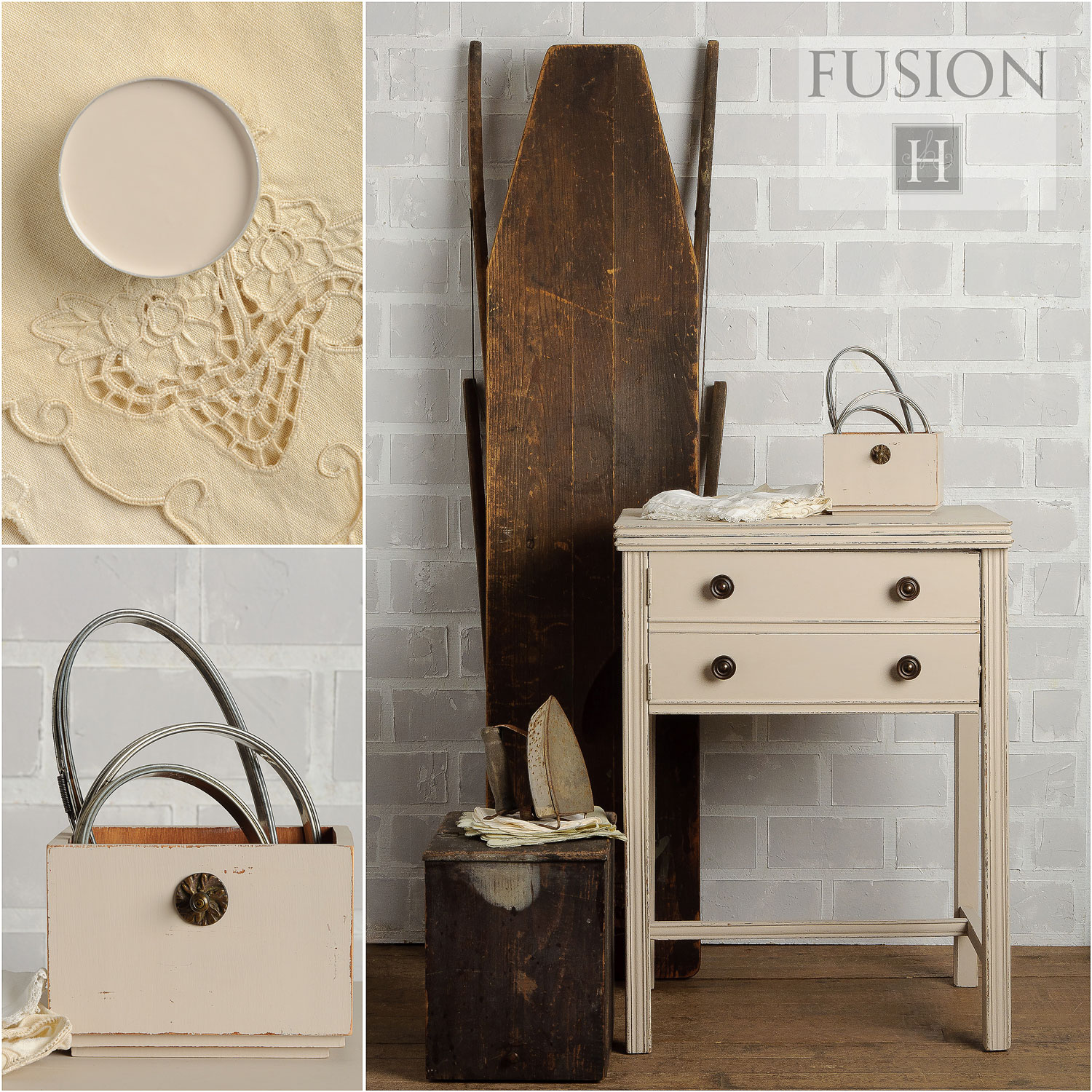 Fusion paint in cathedral taupe - via My Painted Door (.com)