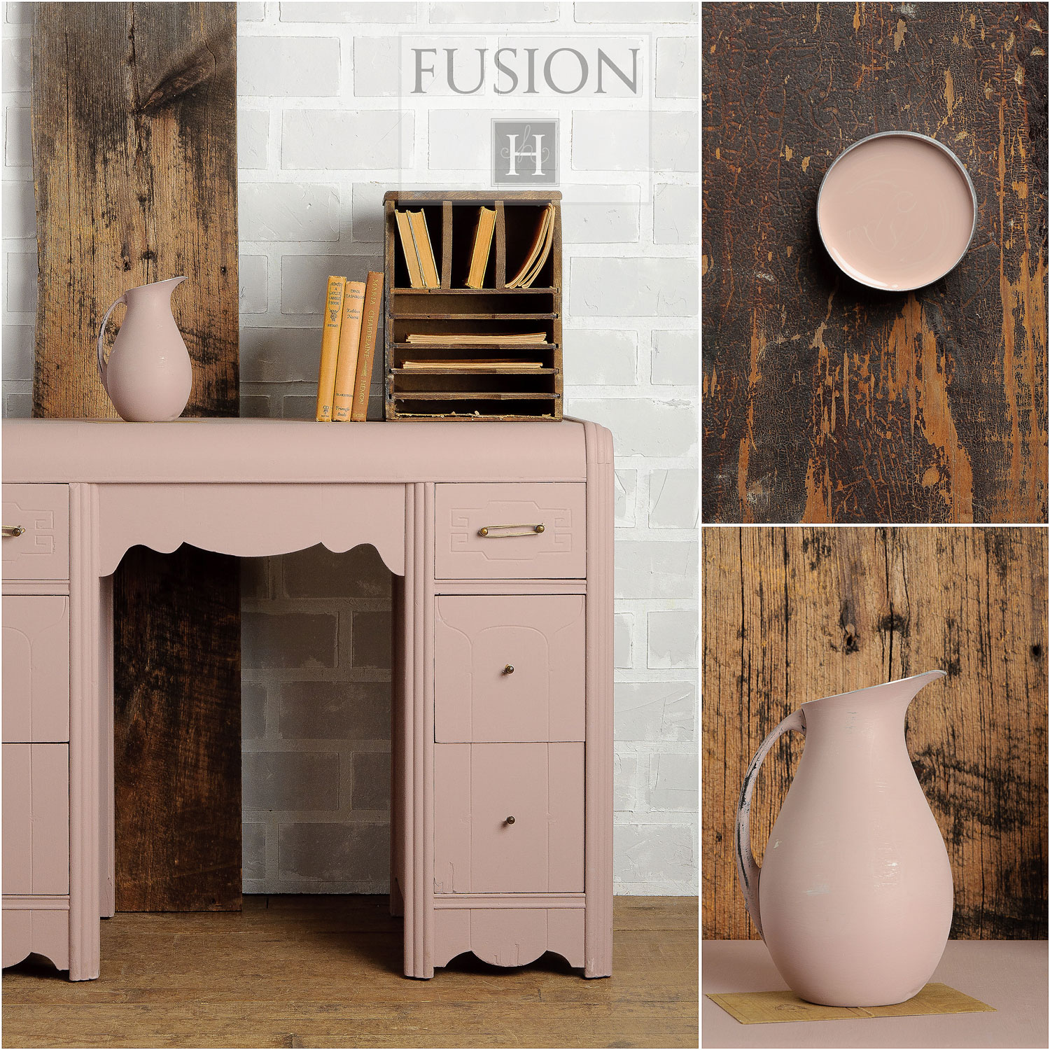 Fusion paint in damask - via My Painted Door (.com)