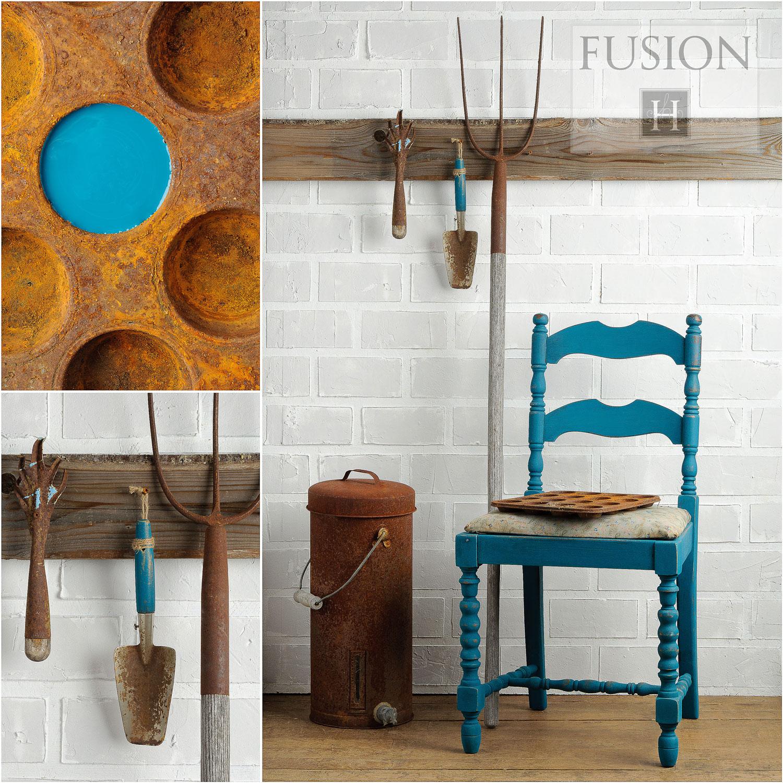Fusion paint in renfrew blue - via My Painted Door (.com)