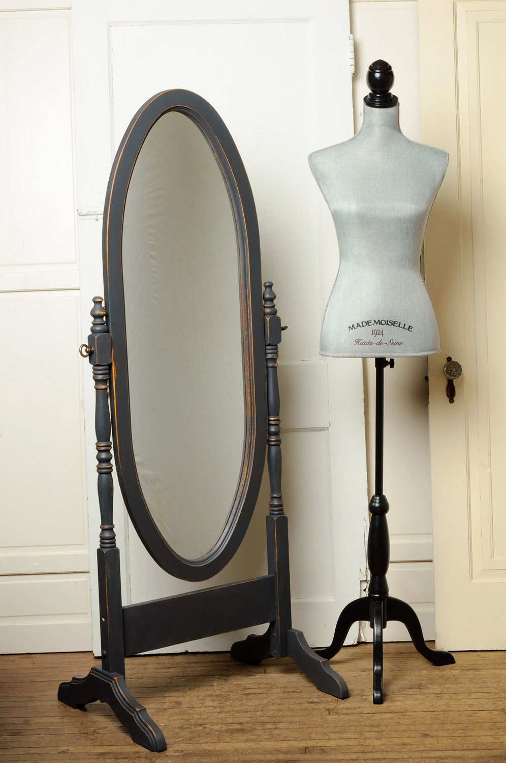 mirror painted with Fusion mineral paint in ash - via My Painted Door (.com)