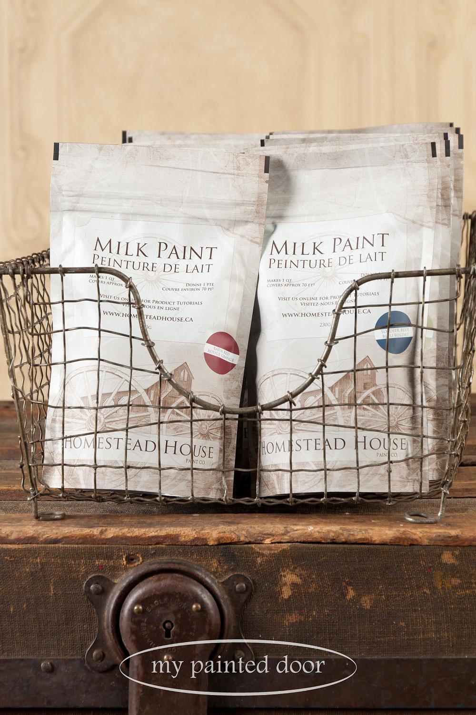 Homestead House milk paint - via My Painted Door (.com)