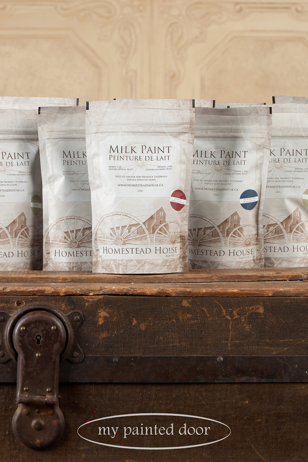 Homestead House milk paint available at My Painted Door (.com)