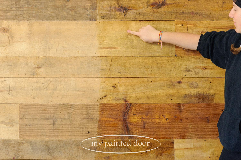 using hemp oil on wood walls via My Painted Door (.com)