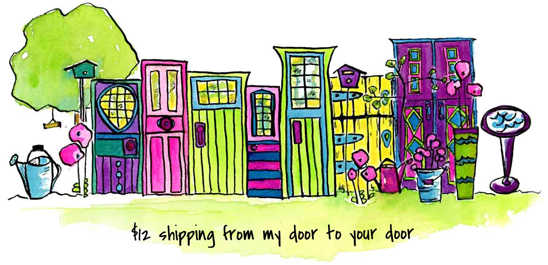 Shipping from my door to your door - via My Painted Door (.com)