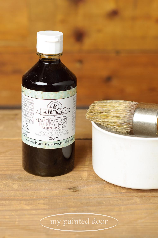 Using Miss Mustard Seed's hemp oil on metal tutorial - via My Painted Door (.com)