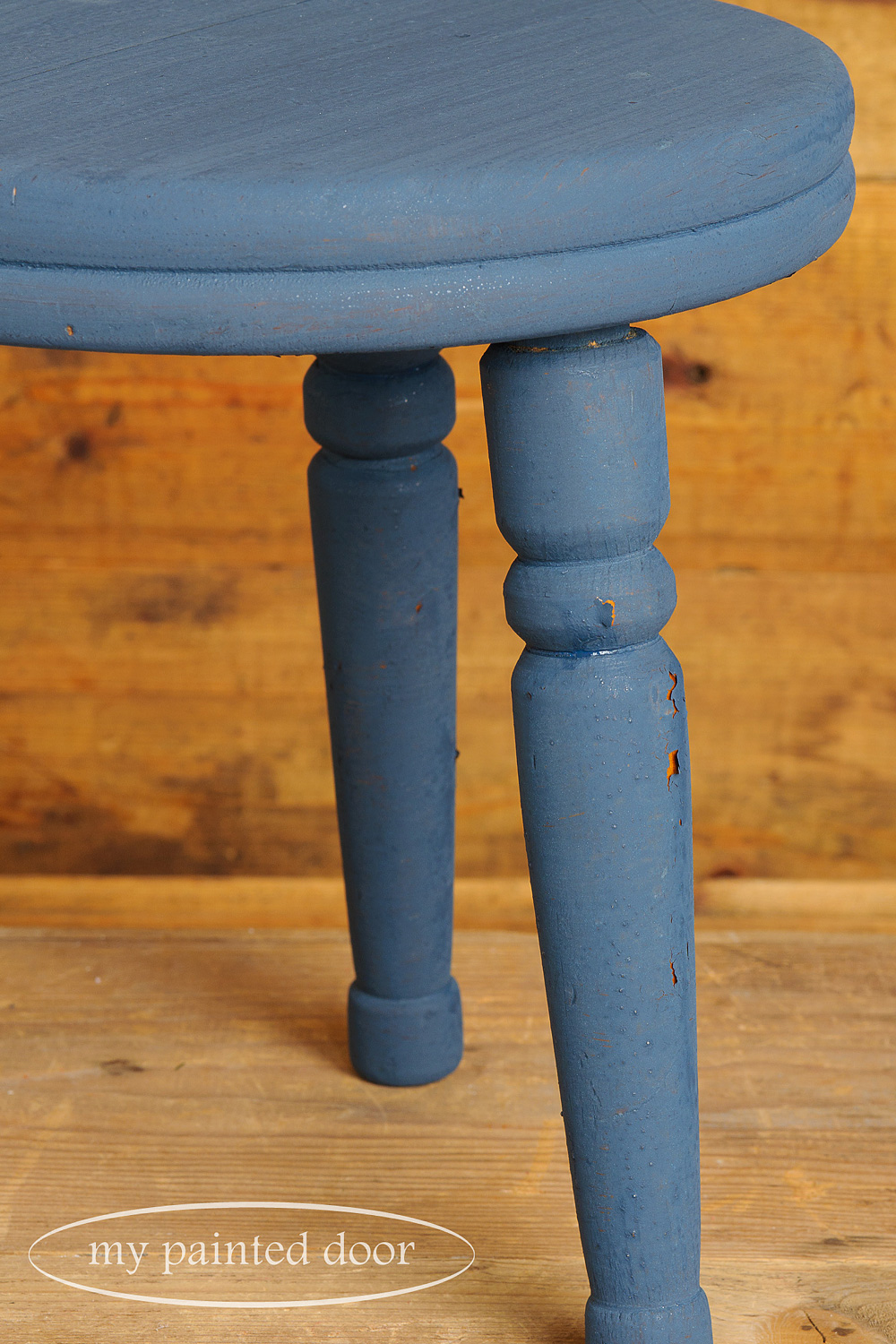 creating a chippy look with milk paint - via My Painted Door (.com)