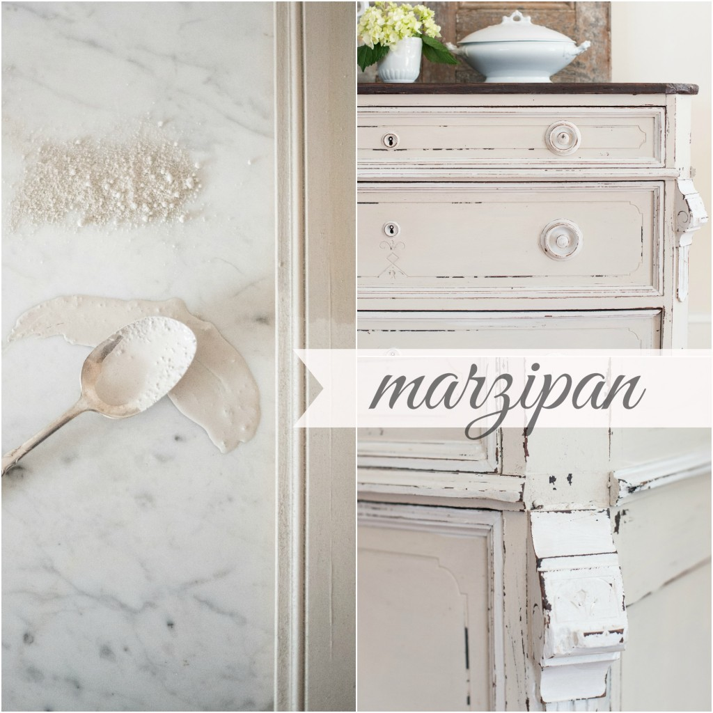 Miss Mustard Seed's milk paint in marzipan - via My Painted Door (.com)