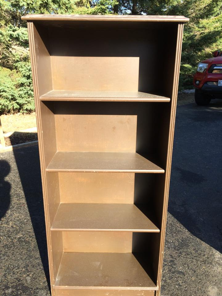 Before photo of cabinet painted in Miss Mustard Seed's milk paint - via My Painted Door (.com)
