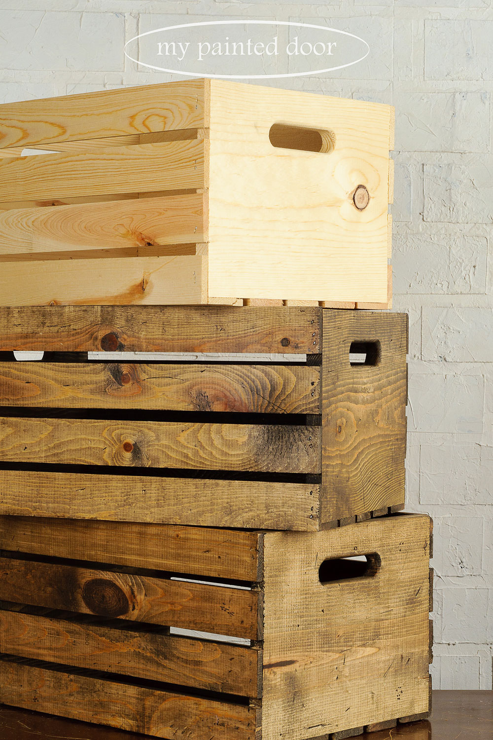 How to add character and an aged look to new wood using Miss Mustard Seed's Antiquing Wax - via My Painted Door (.com)