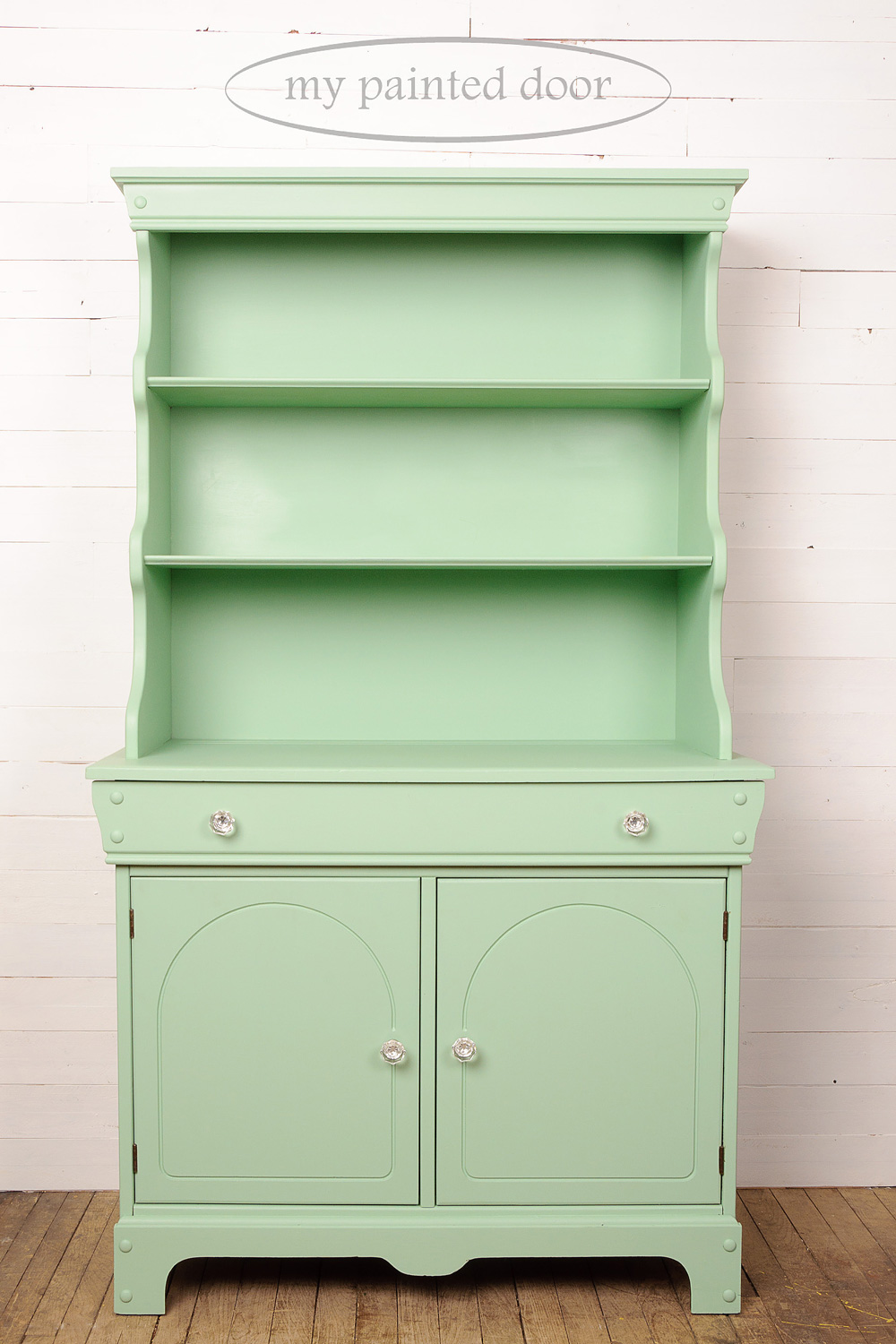 cabinet painted in Penney & Co. Collection of Fusion Mineral Paint in the colour Lily Pond