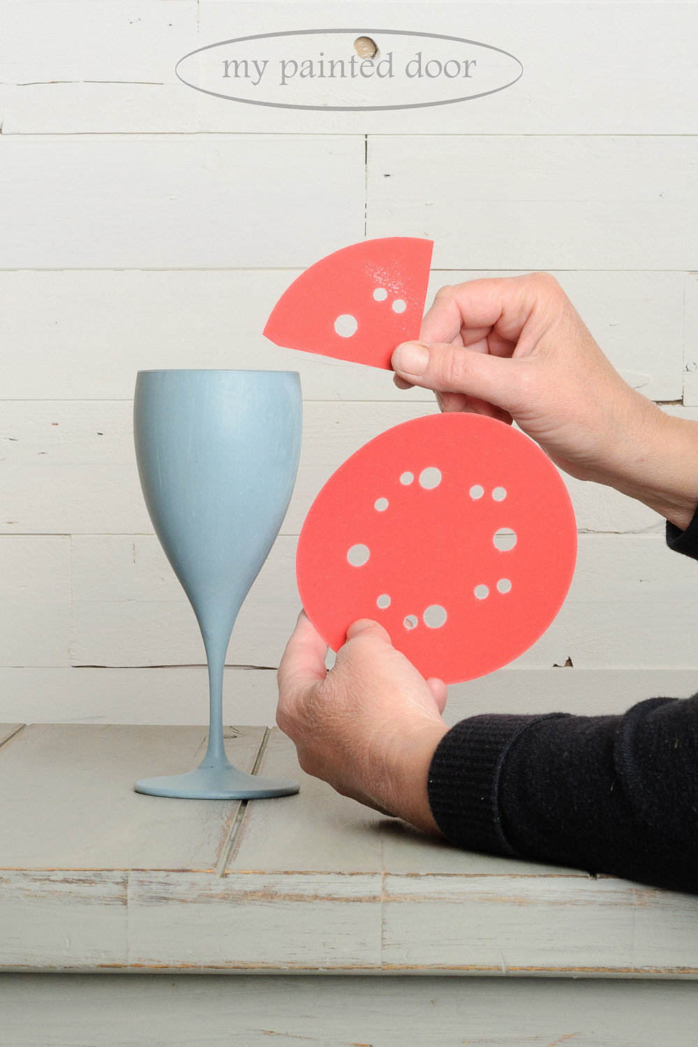 Painting on glass with milk paint tutorial - European Collection of Miss Mustard Seed's Milk Paint