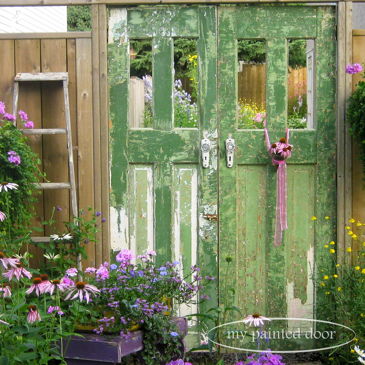 Repurposed doors for your garden - garden entranceway