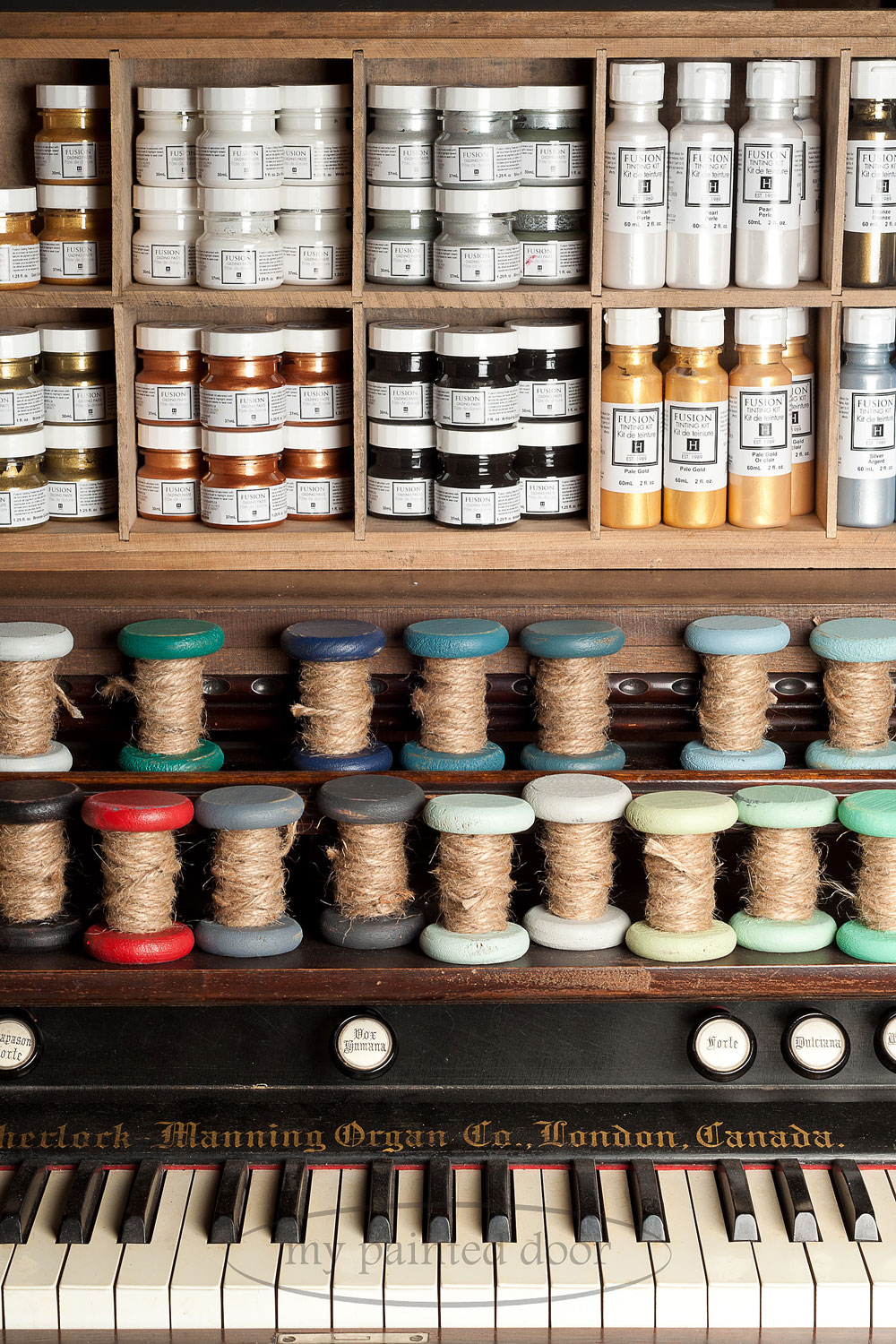 Fusion Mineral Paint display