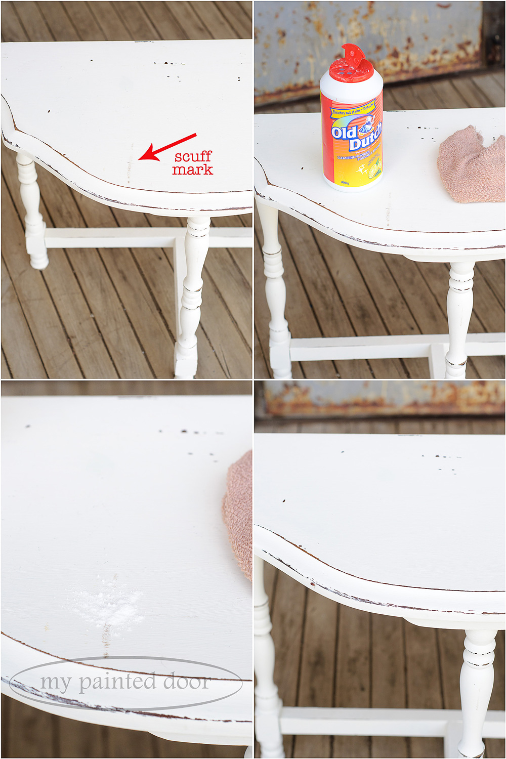 How to remove scuff marks on Fusion Mineral Paint