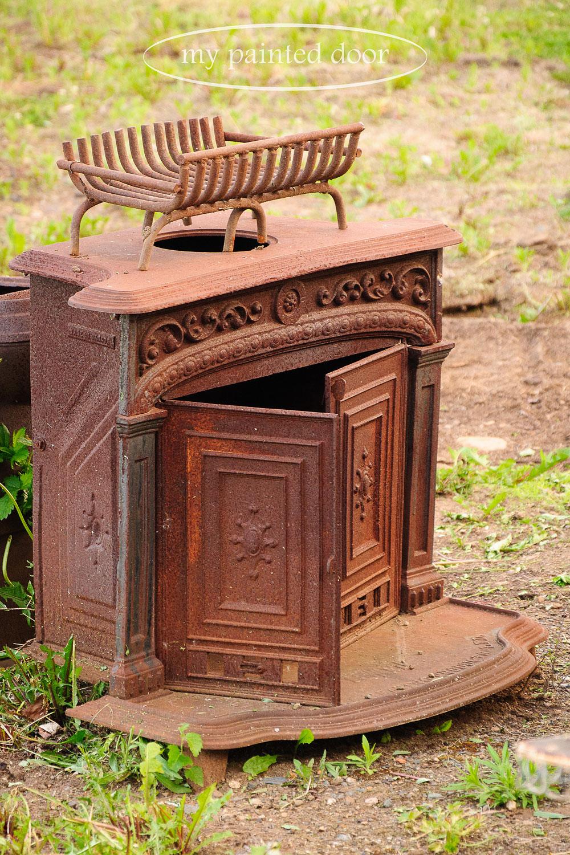 rusty firebox for my garden