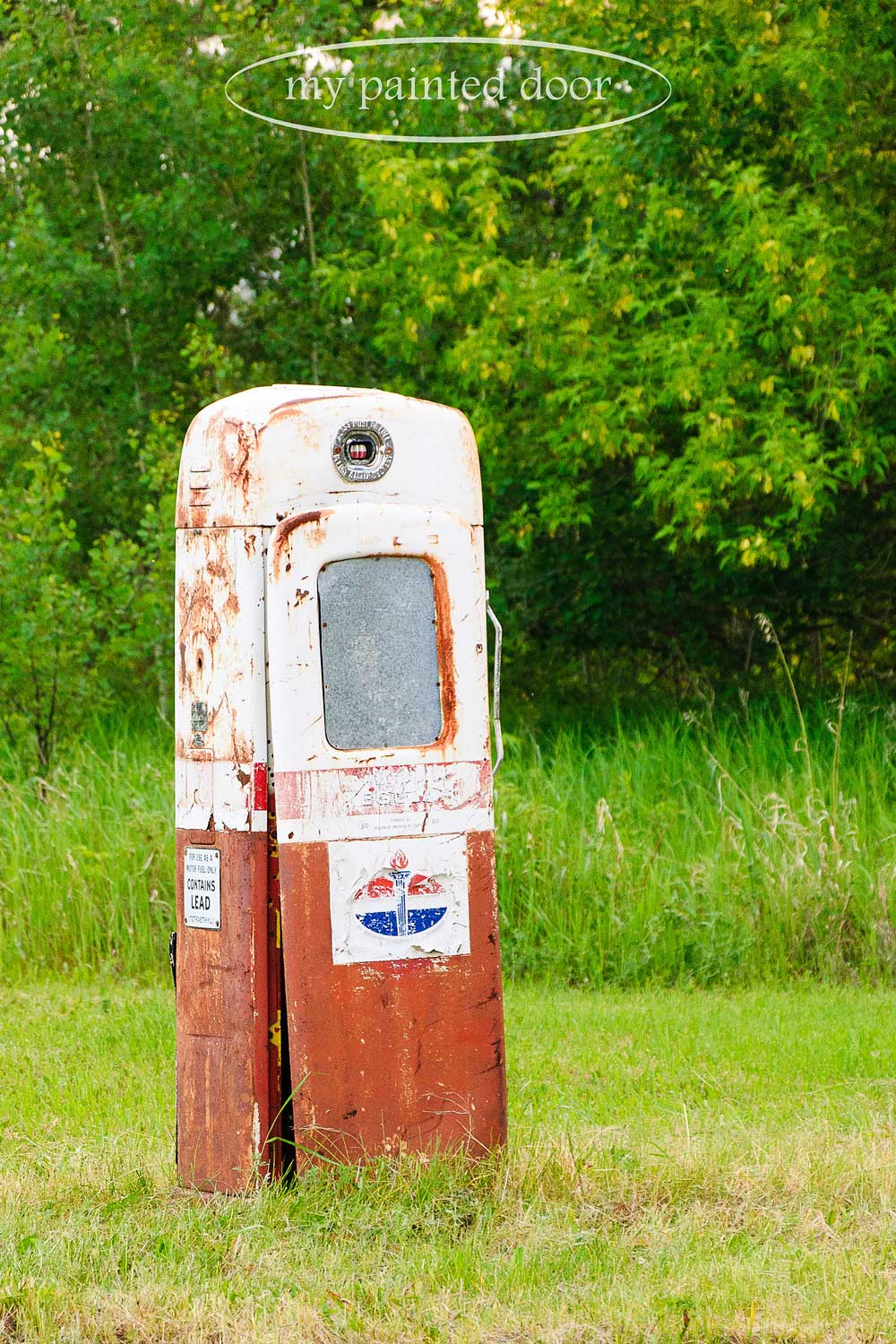 Old gas pump for my garden